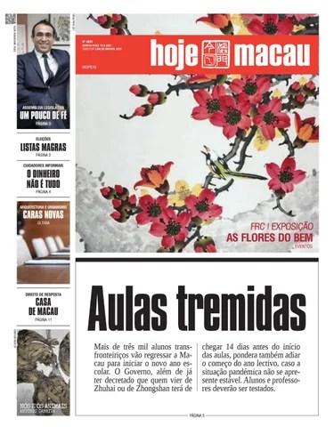 Hoje Macau 19 AGOSTO 2021 #4835