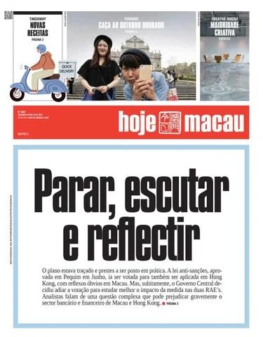 Hoje Macau 23 AGOSTO 2021 #4837