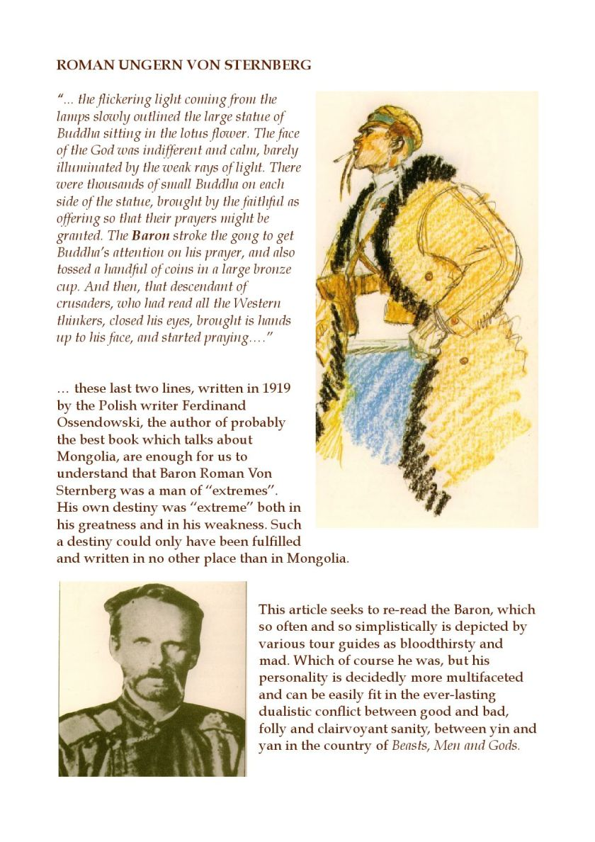 Baron Von Ungern by WANDERING TRIBE OF MONGOLIA - issuu