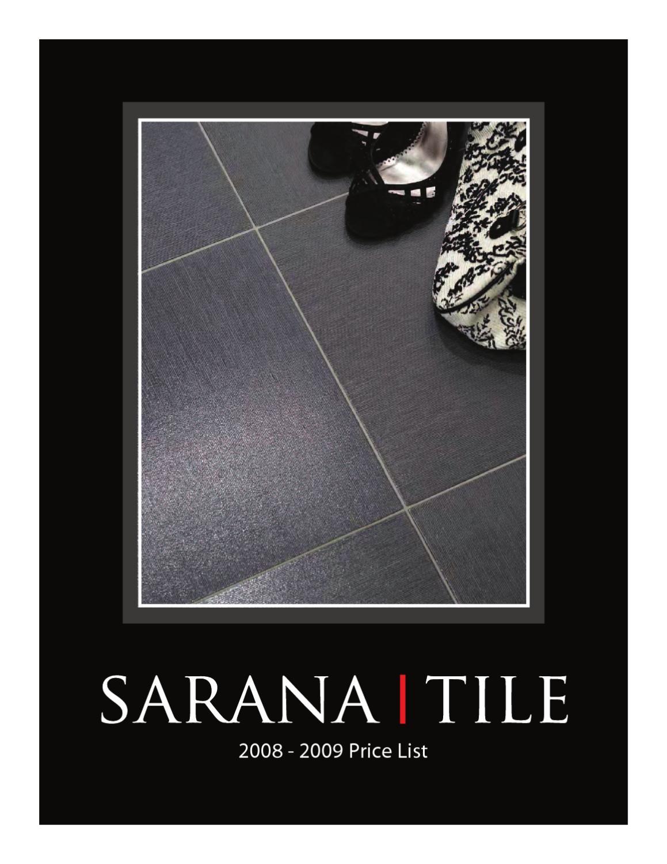 sarana tile catalogue 2008 2009 by