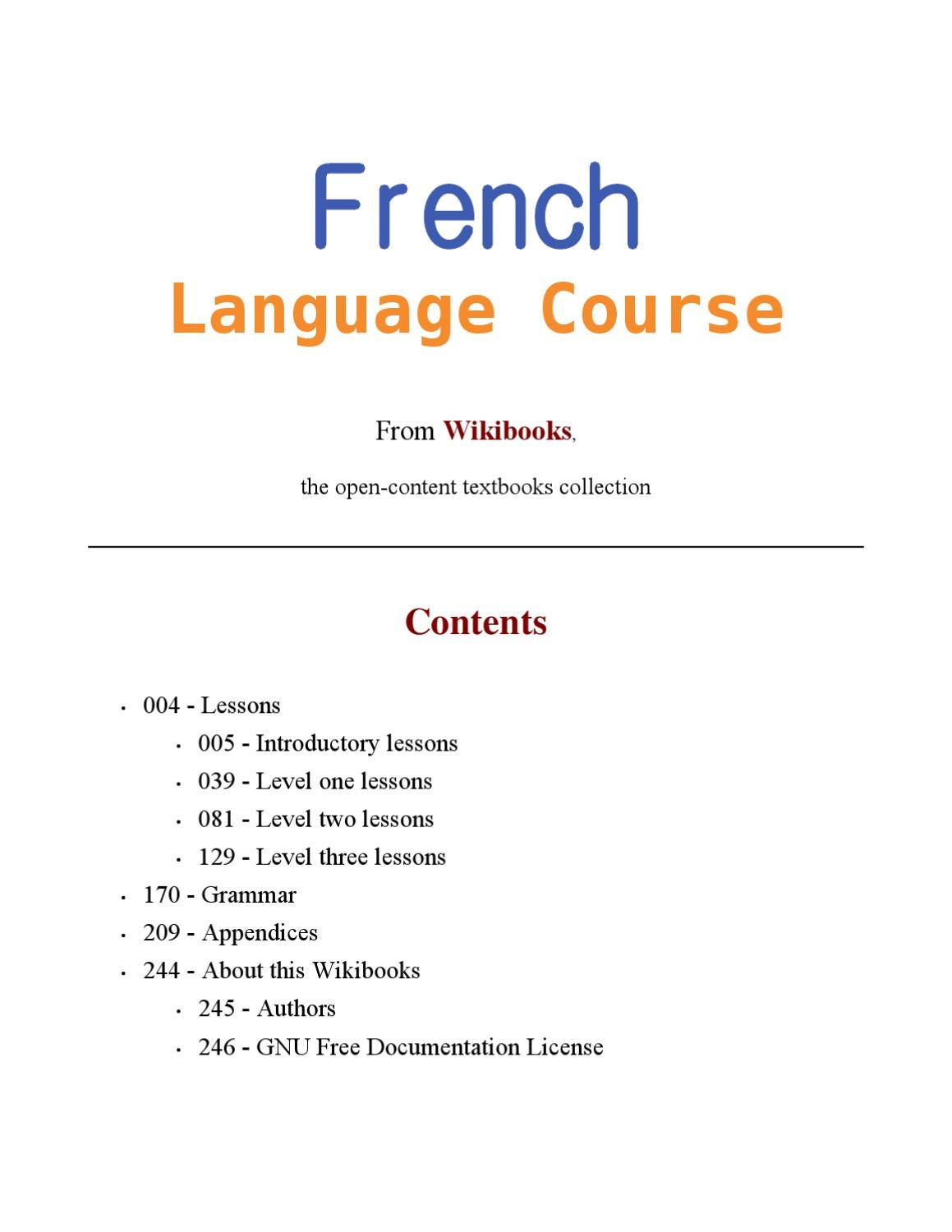 wikibooks french language course by alp