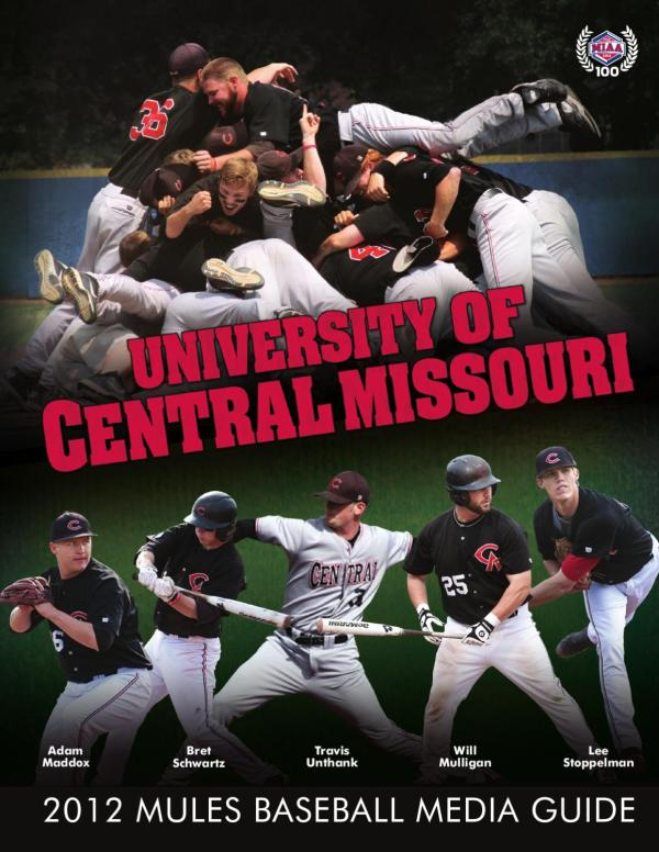 2012 Central Missouri Mules Baseball Media Guide by UCM ...