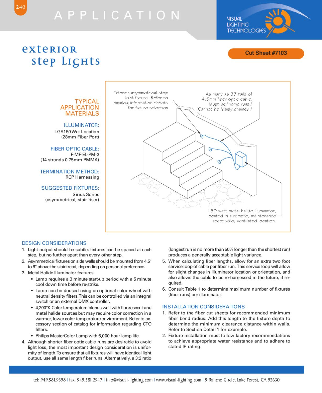 visual lighting technologies catalog