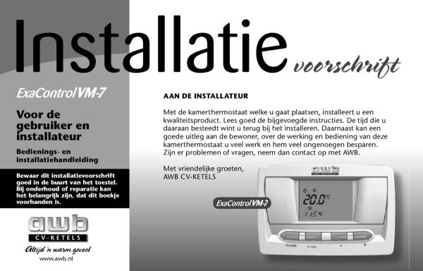 Installatiehandleiding_VM7_AWB by Jaap Schepers - Issuu