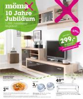 Momax Wohnwand Weiss Hochglanz