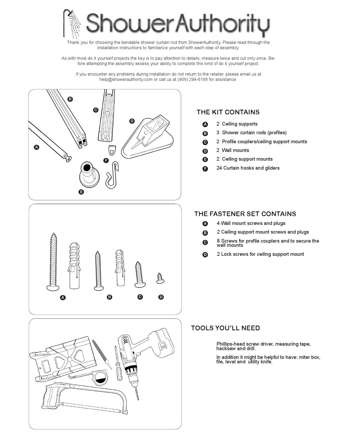 shower authority manual by shower
