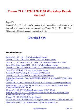 Canon_CLC_1120_1130_1150_Workshop_Repair_manual by Lan Huang  issuu