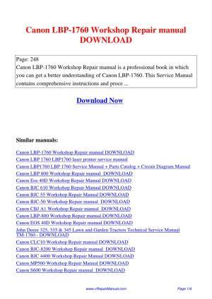 Canon_LBP1760_Workshop_Repair_manual by Huang Luan  Issuu