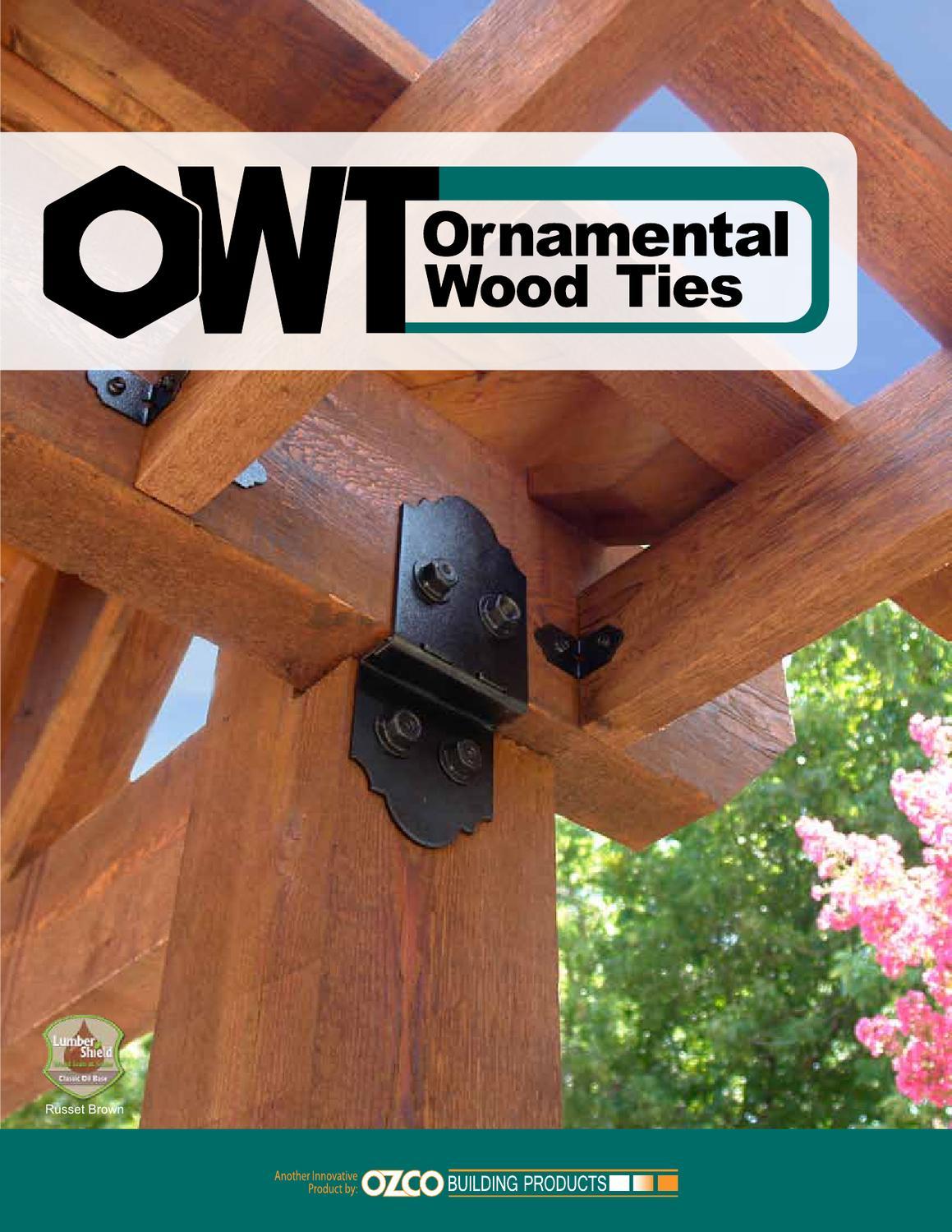 Owt Ornamental Wood Ties Catalog 2013 By Ozco Building