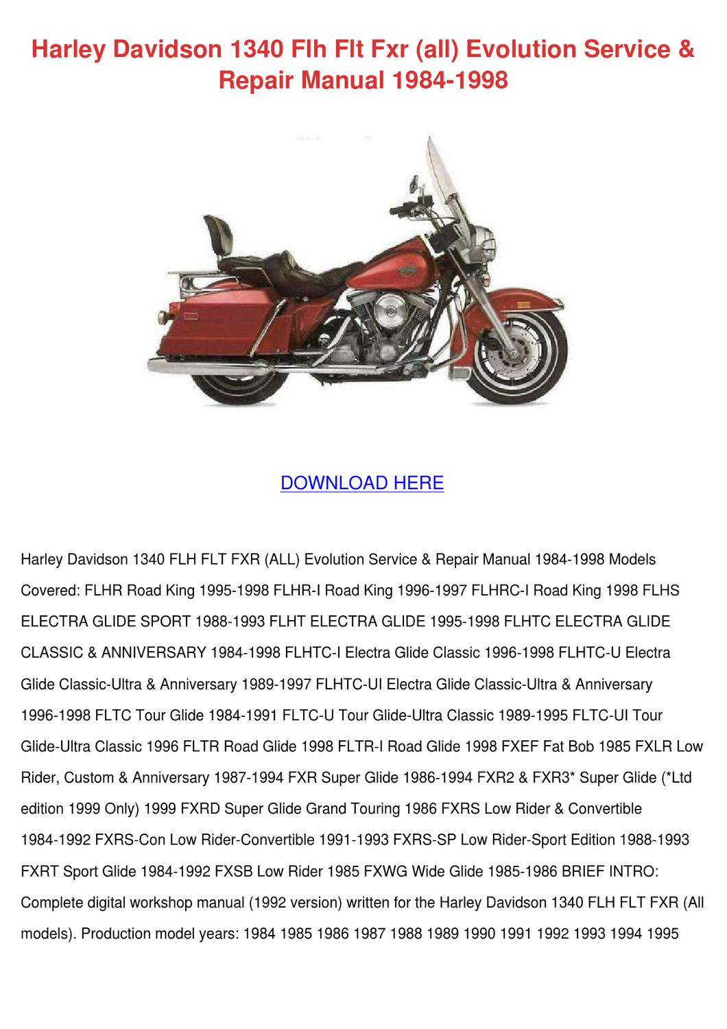 1997 Harley Davidson Wire Diagram Not Lossing Wiring For 2001 Dyna Fxd Am General Road King Softail