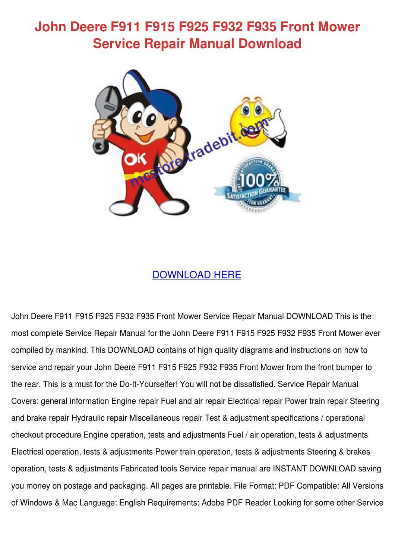 page_1?resize=665%2C941&ssl=1 john deere f935 parts manual the best deer 2017 john deere f932 wiring diagram at couponss.co