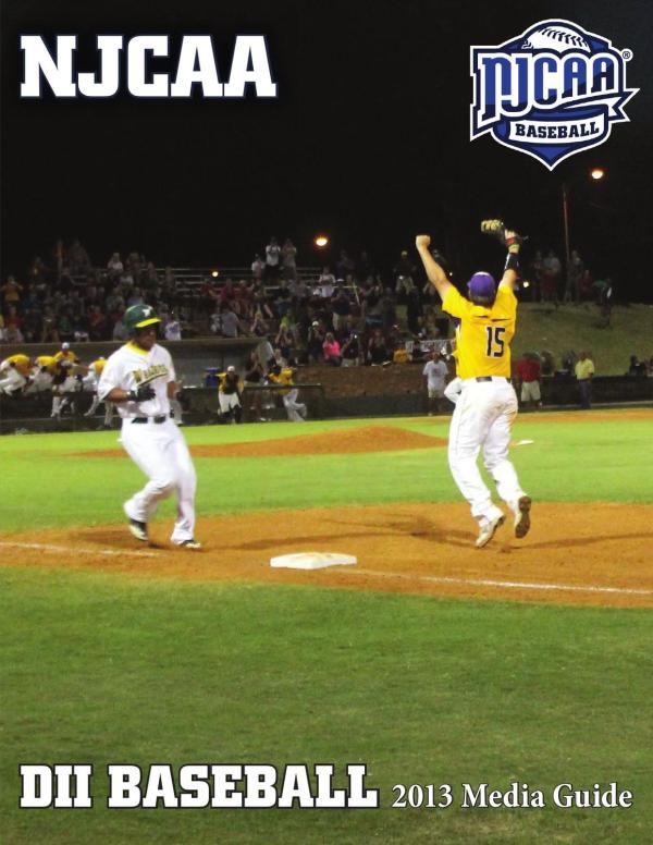 2013 NJCAA DII Baseball Media Guide by Mark Krug - Issuu