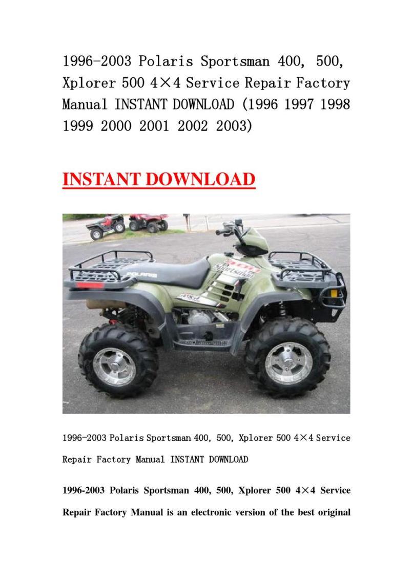 1999 Polaris Scrambler 400 4 Reviewmotors Co