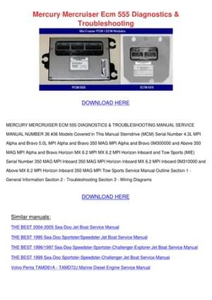 Mercury Mercruiser Ecm 555 Diagnostics Troubl by Vallie Barbar  Issuu