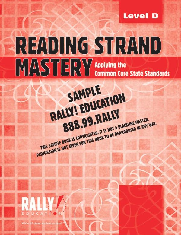 Reading strand mastery d sample by RALLY! Education - Issuu