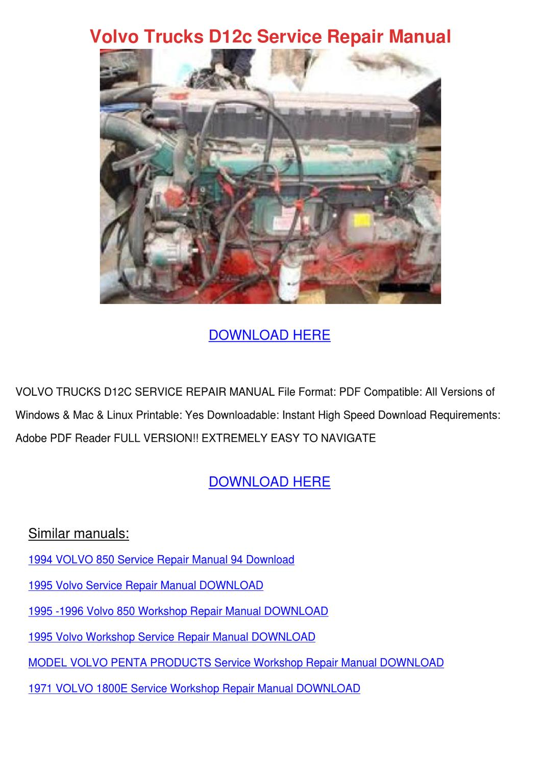 volvo s40 and v40 service and repair manual pdf