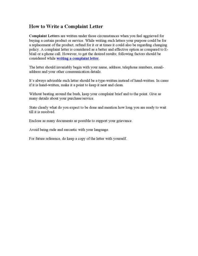 How to Write a Complaint Letter by Steven Wright - issuu