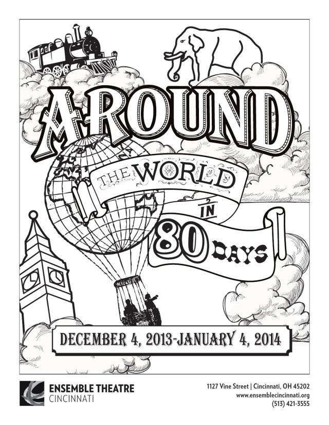 Around the World in 20 Days Coloring Page by Ensemble Theatre