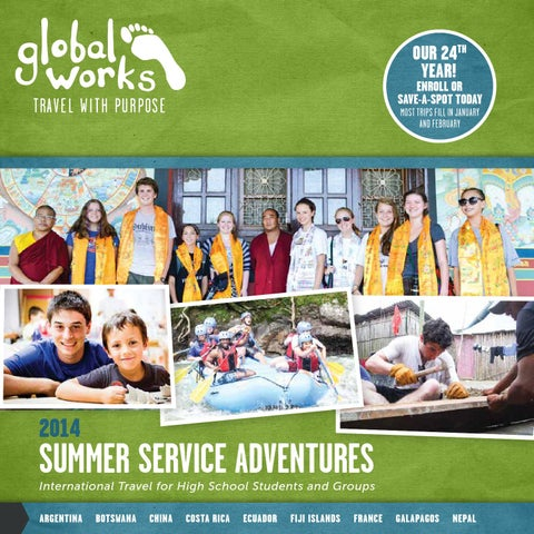 Global Works Travel 2014 Summer Service Adventure Catalog ...