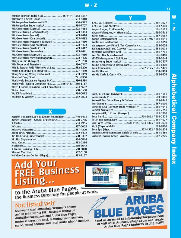 Aruba Blue Pages 2014 by Multi Media International N.V ...
