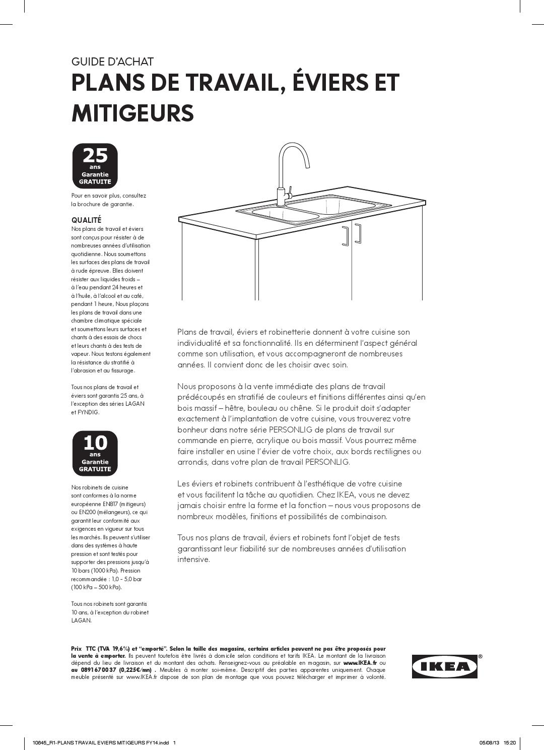 Plans Travail Evier Robinet By Ikea Catalog Issuu