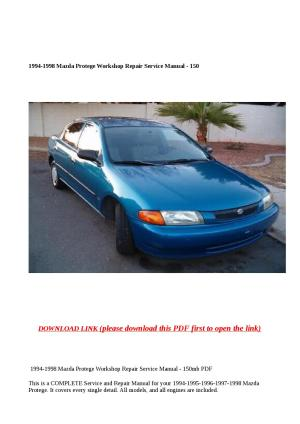 1994 1998 mazda protege workshop repair service manual 150