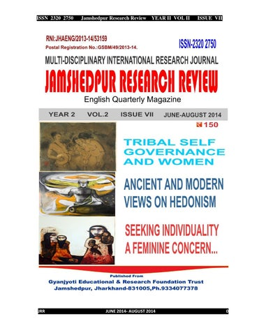 Jamshedpur Research Review by Jamshedpur Research - Issuu
