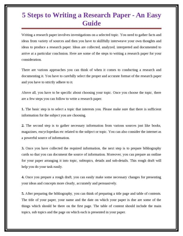 5 steps to writing a research paper an easy guide by Alex ...