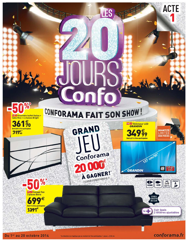 conforama catalogue 1 20octobre2014 by