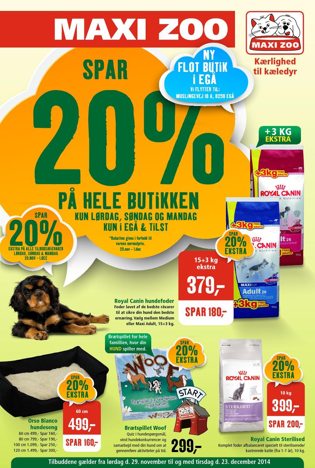 Maxizoo Tilbudsavis Uge 49 Ega Og Tilst By Maxi Zoo Danmark A S Issuu
