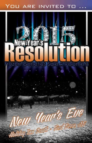 3rd Annual New Year's Resolution Sale 2014 by Bohrson ...