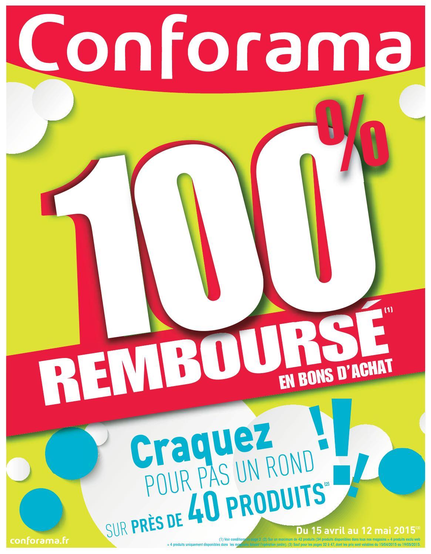 conforama catalogue 15avril 12mai2015