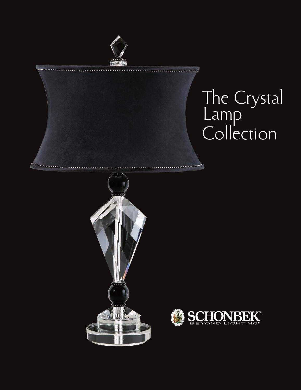 schonbek the crystal lamp collection