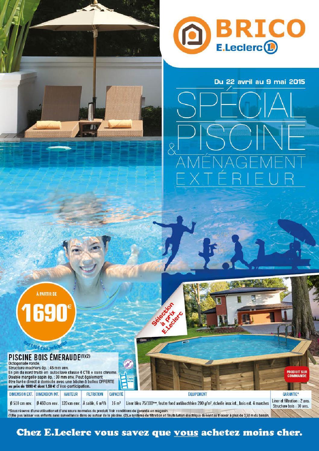 catalogue piscine brico jardi e leclerc