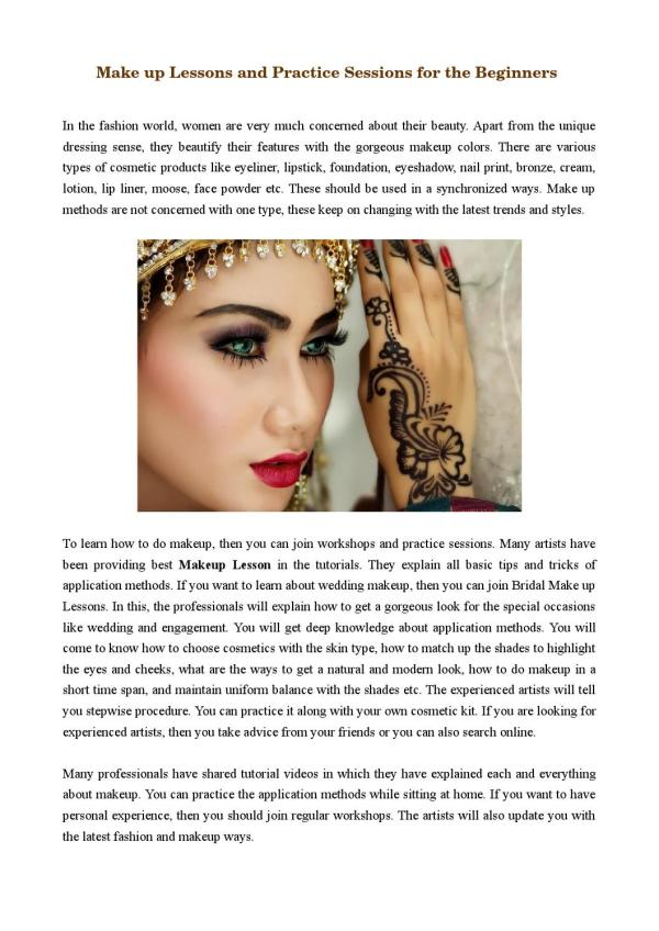 Make up Lessons and Practice Sessions for the Beginners by ...