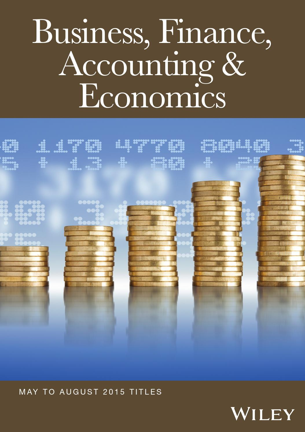 Business Finance Accounting Amp Economics By Wiley India