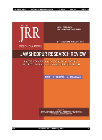 Jamshedpur research review issue 13 by Jamshedpur Research ...