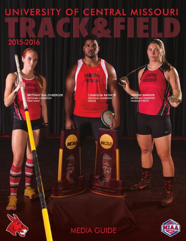 2016 Central Missouri Track and Field Media Guide by UCM ...