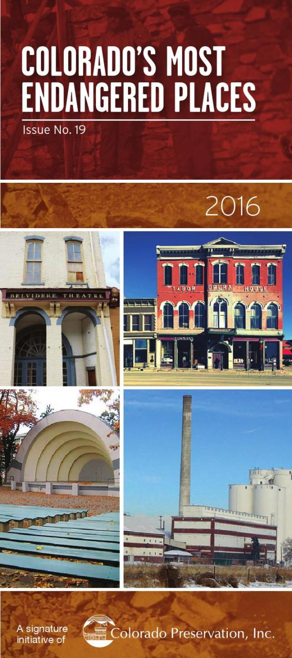 2016 Endangered Places Program Brochure by Colorado ...