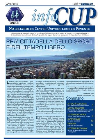 Infocup Aprile 2013 By Centro Universitario Issuu
