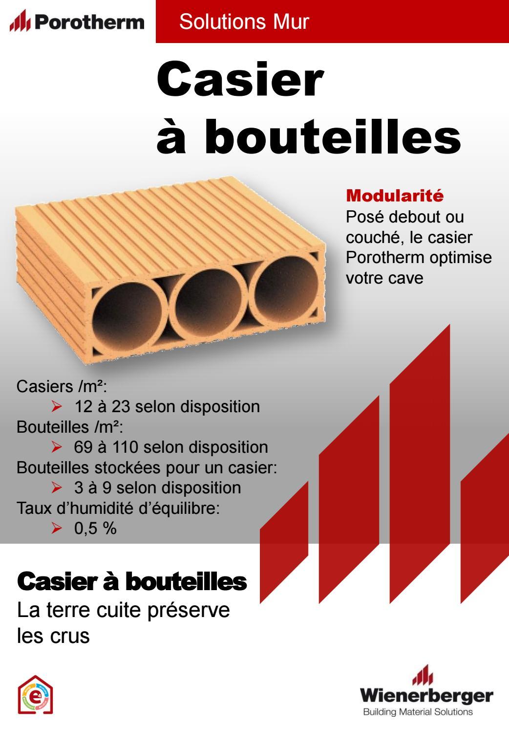 Fiche Produit Casier A Bouteille 3 Trous Porotherm By Wienerberger Ag Issuu
