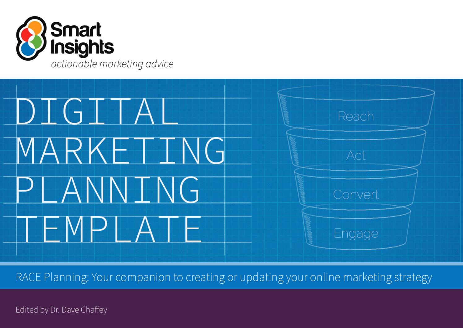 Learn how, plus use these free templates as a guide. Digital Marketing Plan Template Smart Insights By Re Schmolze Issuu
