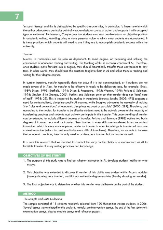 The Independent Journal of Teaching and Learning Vol 26 26 by