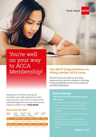 Students  ACCA Membership Leaflet by ACCA Yearbook   issuu You re well on your way to ACCA Membership