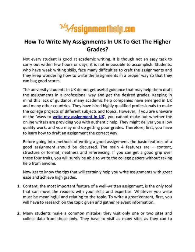 Write My Assignment. Write my assignment