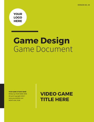 Professional Game Design Document by lhodgesdesign - issuu