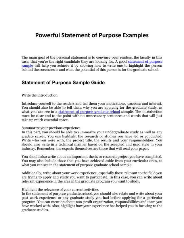 Statement of Purpose Sample: Your Complete Guide to an Awesome SOP