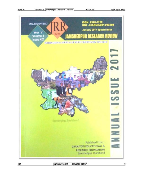 Jamshedpur research review issue 19 by Mithilesh Choubey ...