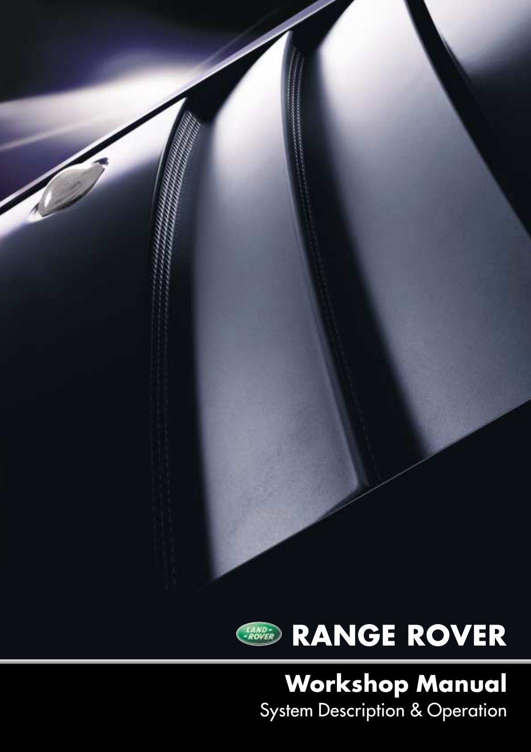 workshop manual l322 range rover part i