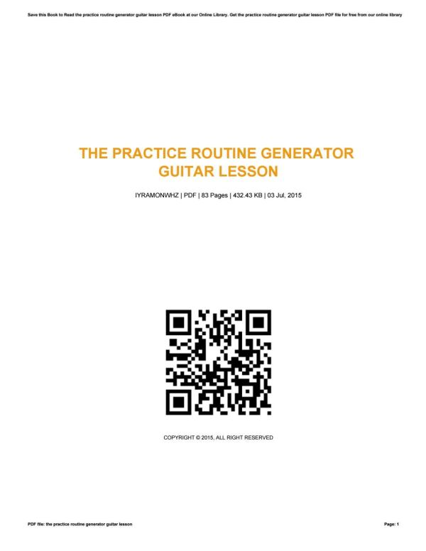 The practice routine generator guitar lesson by ...